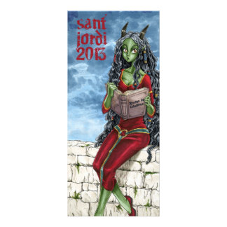 Punt of llibre Drac Sant Jordi 2013 Rack Card Design