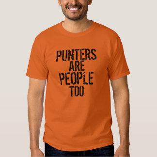 Punters are people too funny black orange tshirt