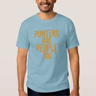 Punters are people too funny blue orange tshirt