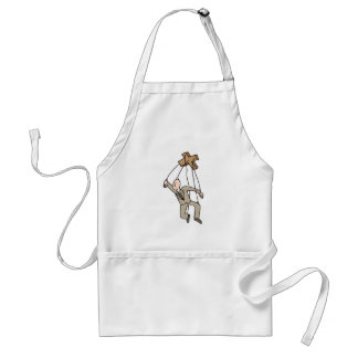 Puppet String Businessman Standard Apron