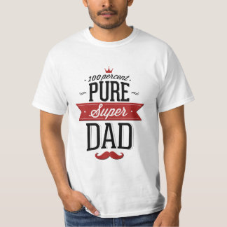 Pure Super Dad Moustache Red and Black T-shirts