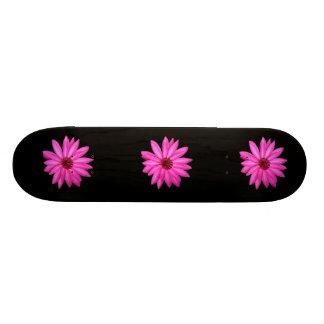Purple Flower Black Sissy Girl Girly Skateboard