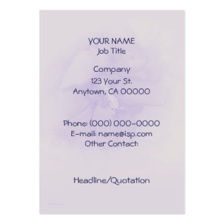 Purple Hibiscus Large Business Card