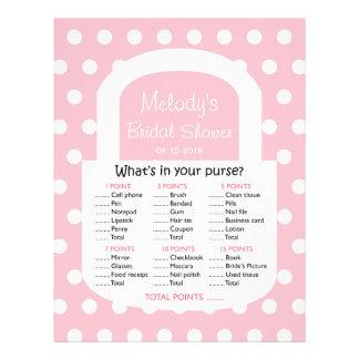 Purse Bridal Shower Game - Pink Flyer