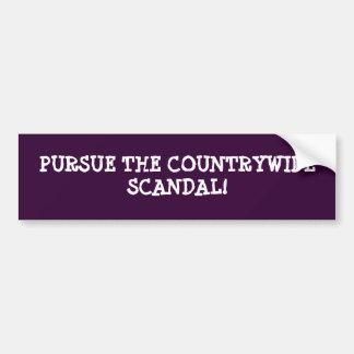 PURSUE THE COUNTRYWIDE SCANDAL BUMPER STICKER