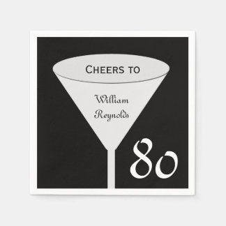 quatre-vingtième Serviettes de papier de fête Serviette Jetable