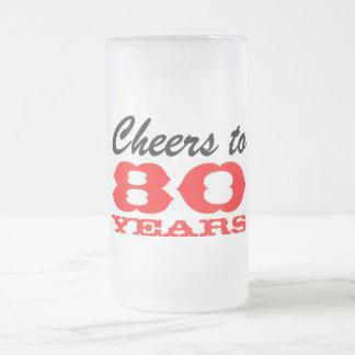 quatre-vingtième Tasse de cadeau en verre de bière