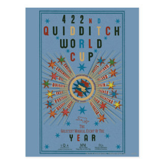 Quidditch World Cup Blue Poster Postcard