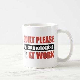 Quiet Please Immunologist At Work Classic White Coffee Mug