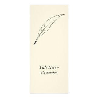 """Quill Pen 4"""" X 9.25"""" Invitation Card"""