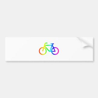 Rainbow Bicycle #3 Bumper Sticker