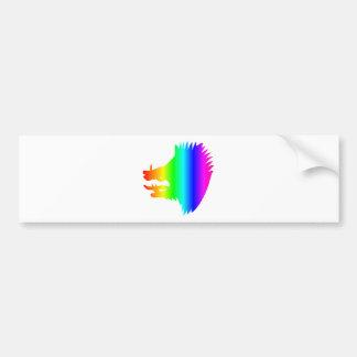 Rainbow Boar's Head Bumper Sticker