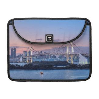 Rainbow Bridge at twilight Sleeve For MacBooks
