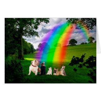 Rainbow Bridge Poem Greeting Card
