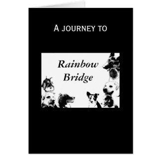 Rainbow Bridge - sympathy for dog Greeting Card