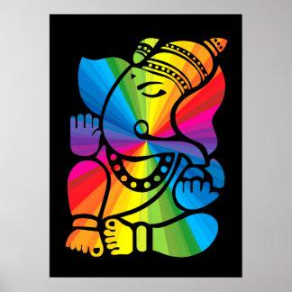 Rainbow Ganesha Poster