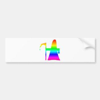 Rainbow Grim Reaper #2 Bumper Sticker