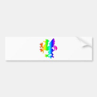Rainbow Gryphon Bumper Sticker