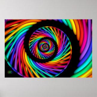 Rainbow Roll Poster