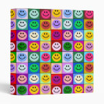 Rainbow smiley face squares binder