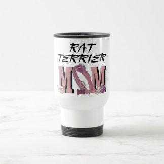Rat Terrier MOM 15 Oz Stainless Steel Travel Mug