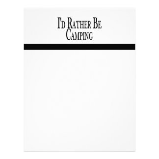 Rather Be Camping Customized Letterhead
