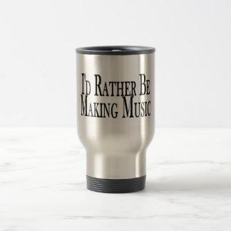 Rather Make Music 15 Oz Stainless Steel Travel Mug