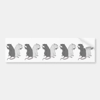 Rats with Gats Bumper Sticker