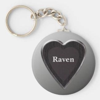 Raven Heart Keychain by 369MyName