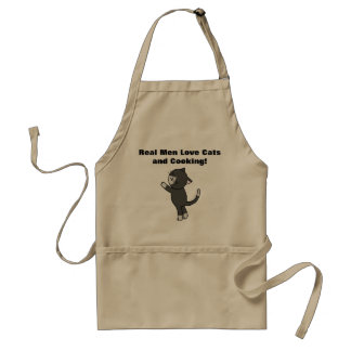 Real Men Love Cats and Cooking BBQ Apron For Him