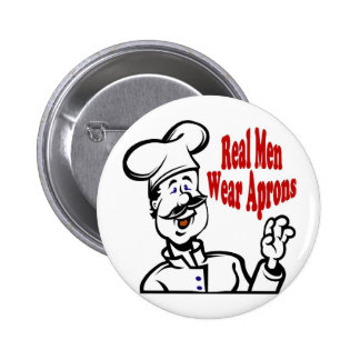 Real Men Wear Aprons 2 Inch Round Button
