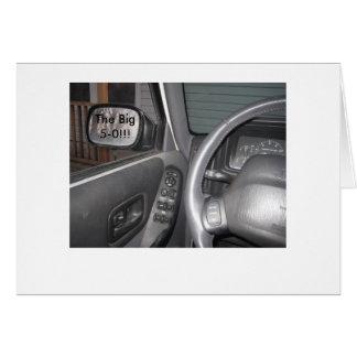 Rear View Mirror (50) Greeting Card