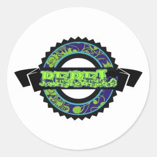 Rebel Round Sticker