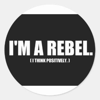 Rebel Thoughts Round Sticker