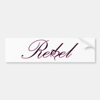 REBEL unique design, purple script and heart! Bumper Sticker