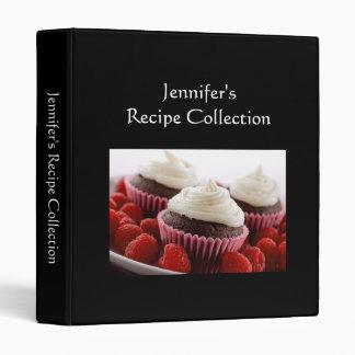 Recipebook plain black custom photo binder