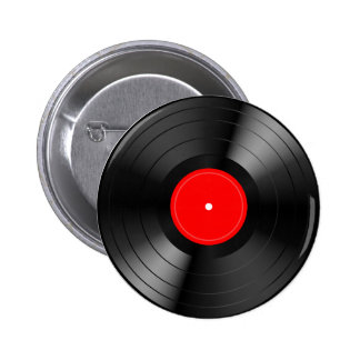 Record_LP 2 Inch Round Button