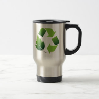 Recycle 15 Oz Stainless Steel Travel Mug
