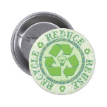 Recycle Earth Day Gear 2 Inch Round Button