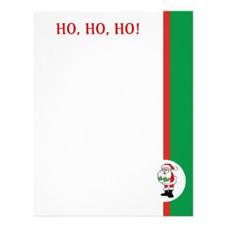 Recycled Christmas Paper - Ho, Ho, Ho Design Letterhead Design
