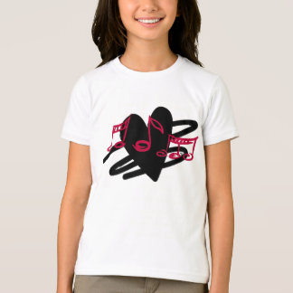 Red and black love music design tshirt