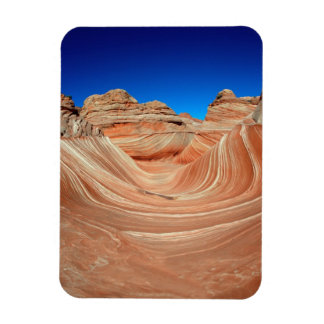 Red, Beige and yellow striping in wind  and Rectangular Photo Magnet