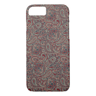 Red Blue Beige Paisley iPhone 7 Case