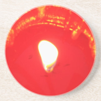 Red Candlelight, Flame , Candle, Christmas Love Coaster