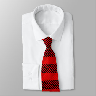 Red Double Stripe Mens Tie