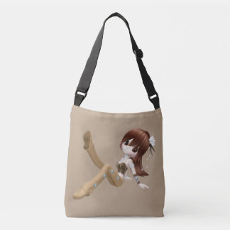 Red Hair Woman All-Over-Print Cross Body Bag