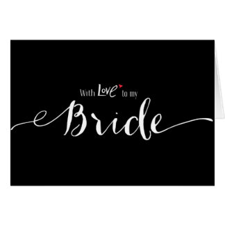 Red Heart With Love to My Bride Wedding Day Greeting Card