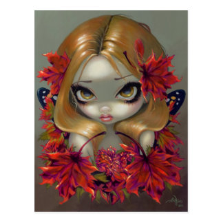 """Red Maple Fairy"" Postcard"