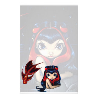 """""""Red Tailed Mermaid"""" Stationery"""