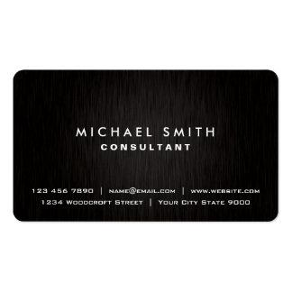Regard moderne noir simple professionnel élégant carte de visite standard